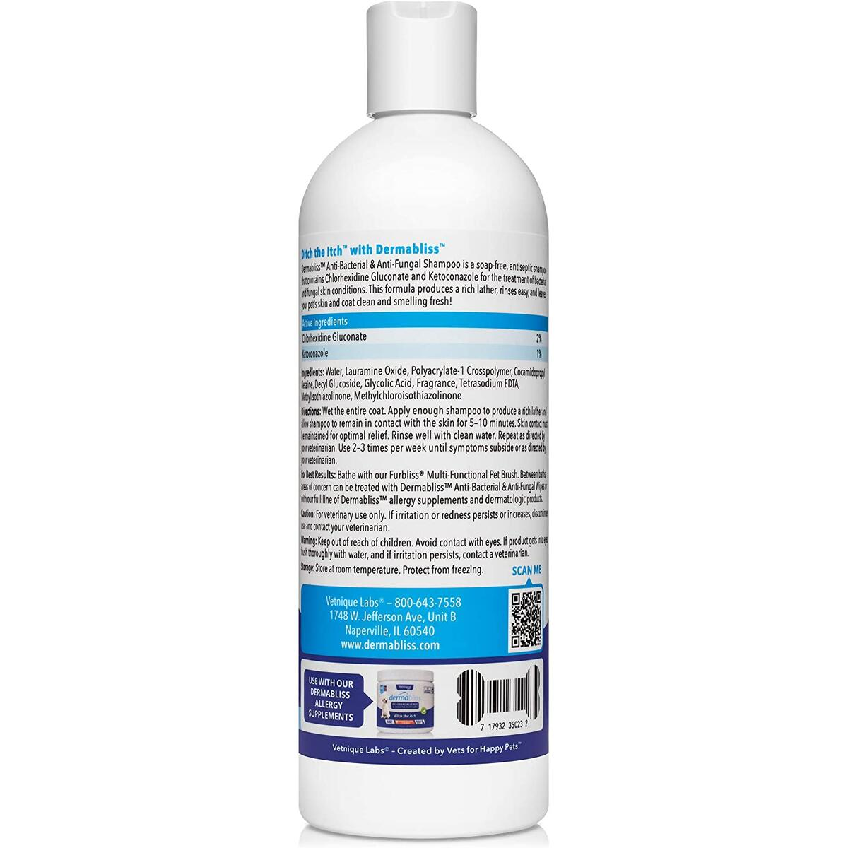 Dermabliss Anti Bacterial and Anti Fungal Medicated Dog and Cat Shampoo