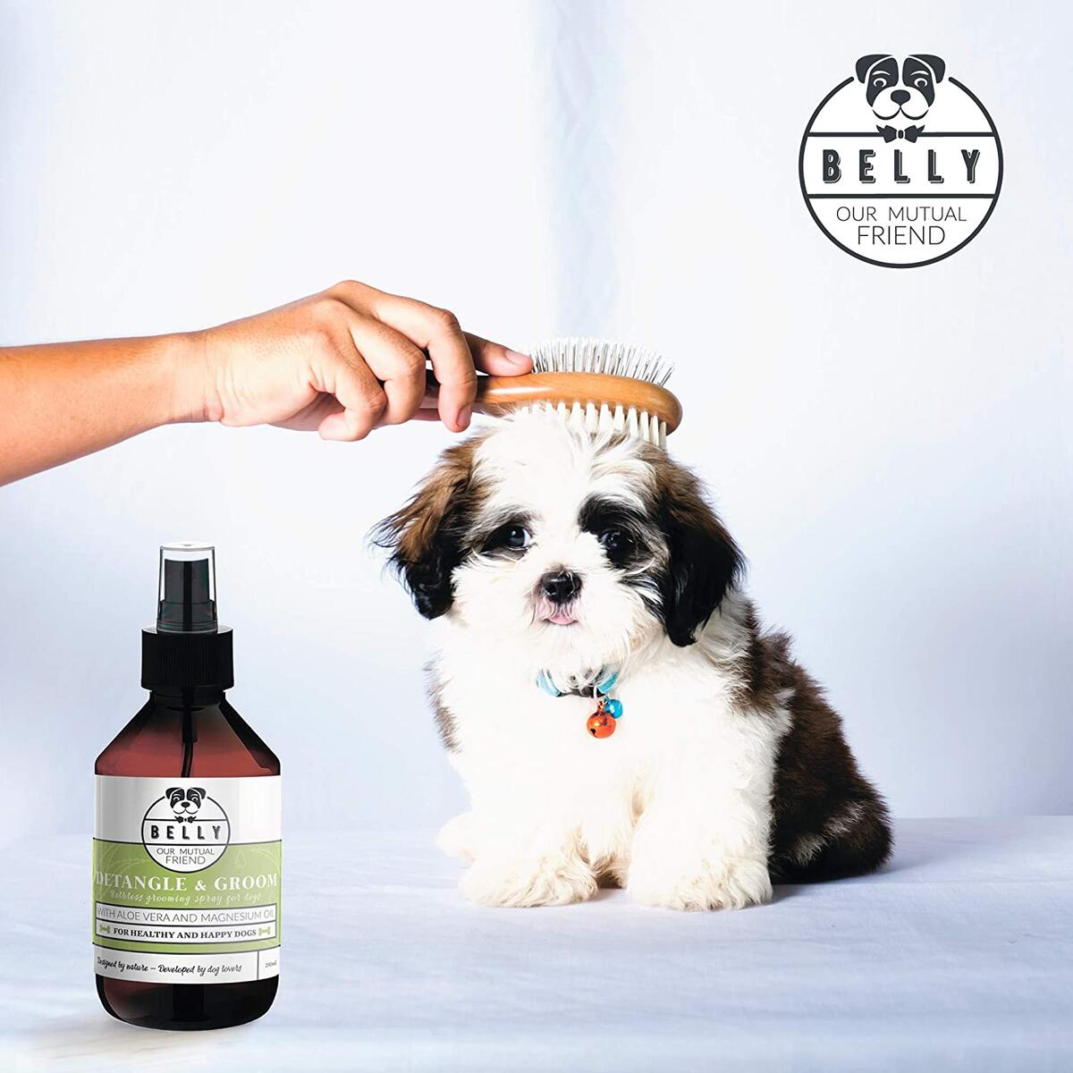 Dog Detangler Spray - Natural Detangle and Groom I 8.45 Fl Oz I Natural and Vegan Dog Grooming Spray I for Healthy and Happy Dogs I Contains Aloe Vera and Magnesium Oil I Dog Conditioner