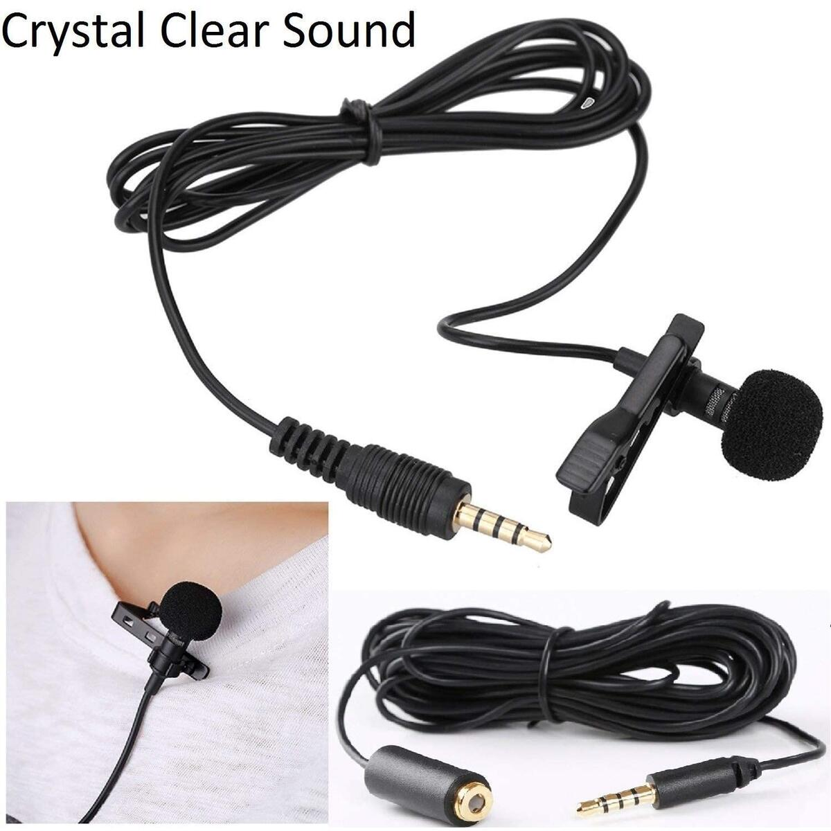 Socialite Professional Grade Studio Quality Clip-on Lavalier Lapel Omnidirectional Condenser Microphone for Apple iPhone, Ipad, Samsung, Android, Windows Smartphones, Tablets w/ 3.5mm Extension Cable