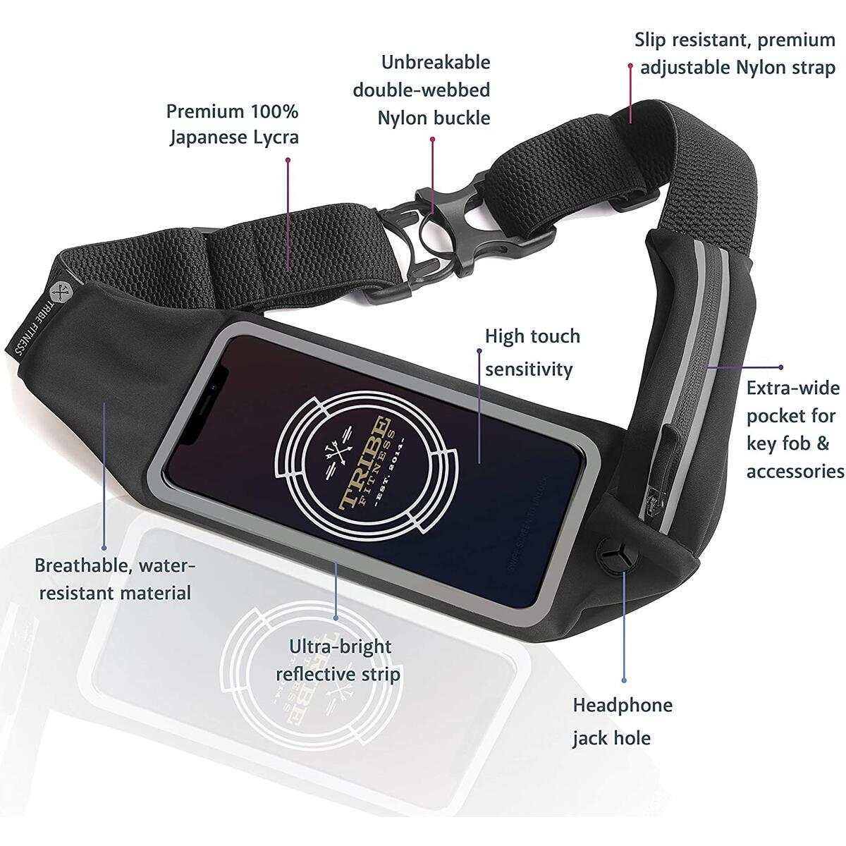 TRIBE Running Belt Waist Pack Phone Holder for Running