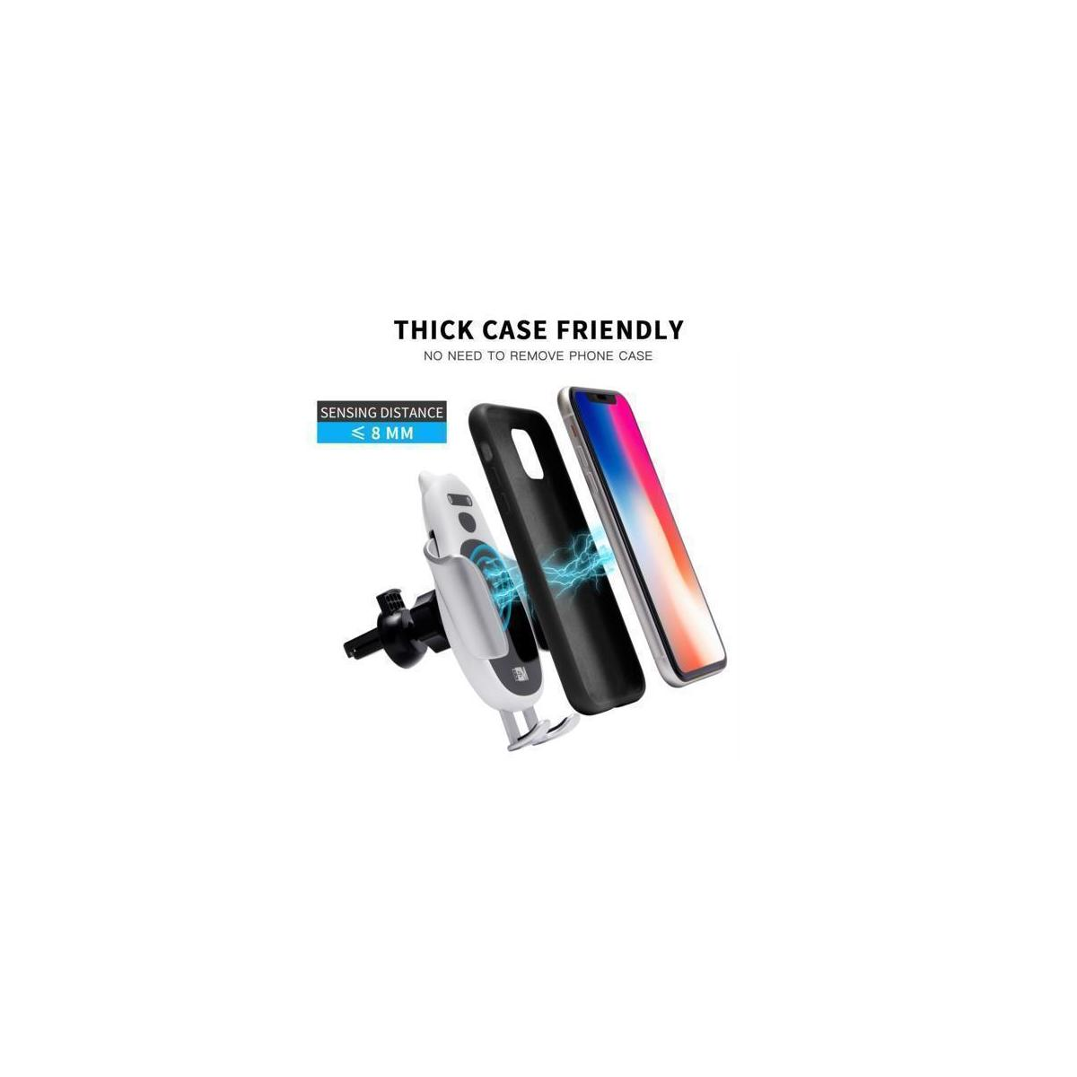 8M Wireless Car Charger Mount Auto Clamping I Bonus QC 3.0 Fast Car Charger Head I Qi Wireless Charger Car Mount Fast Charging Car Charger 15W I Wireless Phone Charger for Car