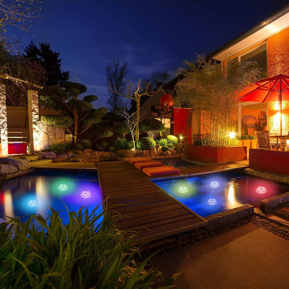 BeautifulLife 2 Pack Starfish Floating Pool Lights