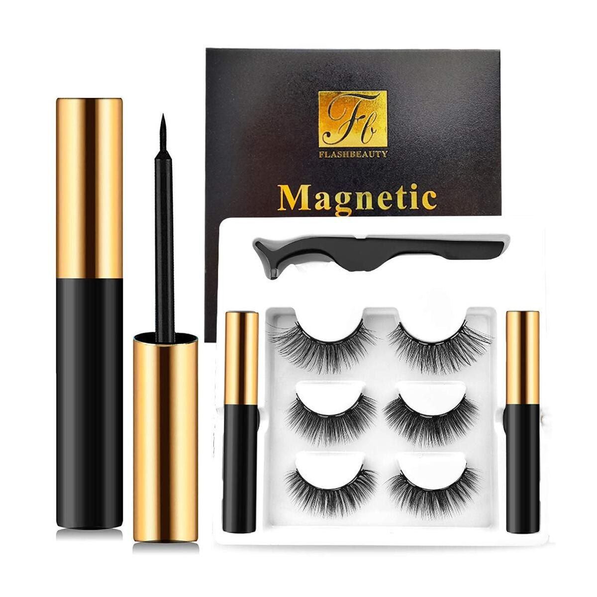Magnetic Eyelashes with Eyeliner