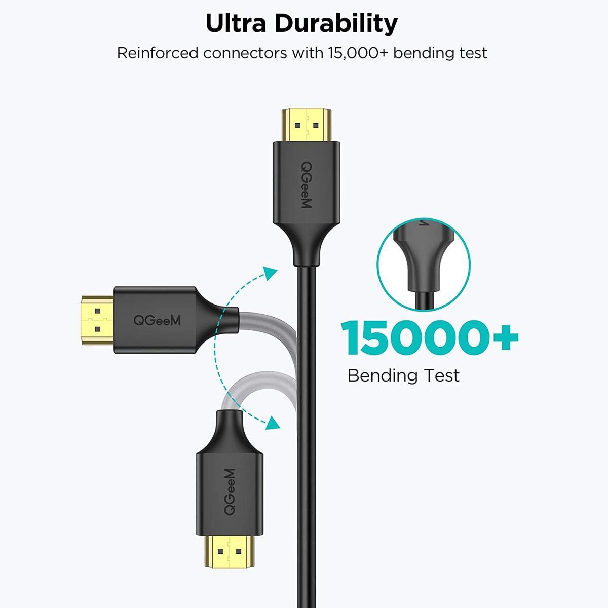 Mini HDMI to HDMI Cable 6FT, High Speed 4K 60Hz HDMI 2.0 Cord, Compatible with Sony HDR-XR50, Nikon Z6 Canon EOS RP/EOS R/EOS 7D Mark II / XA40,Lenovo Thinkpad Yoga, Mini HDMI Cable