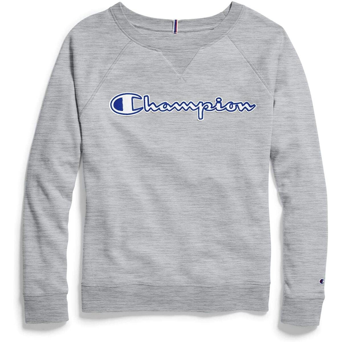 Champion Women's Heritage French Terry Crew - Size: 2X