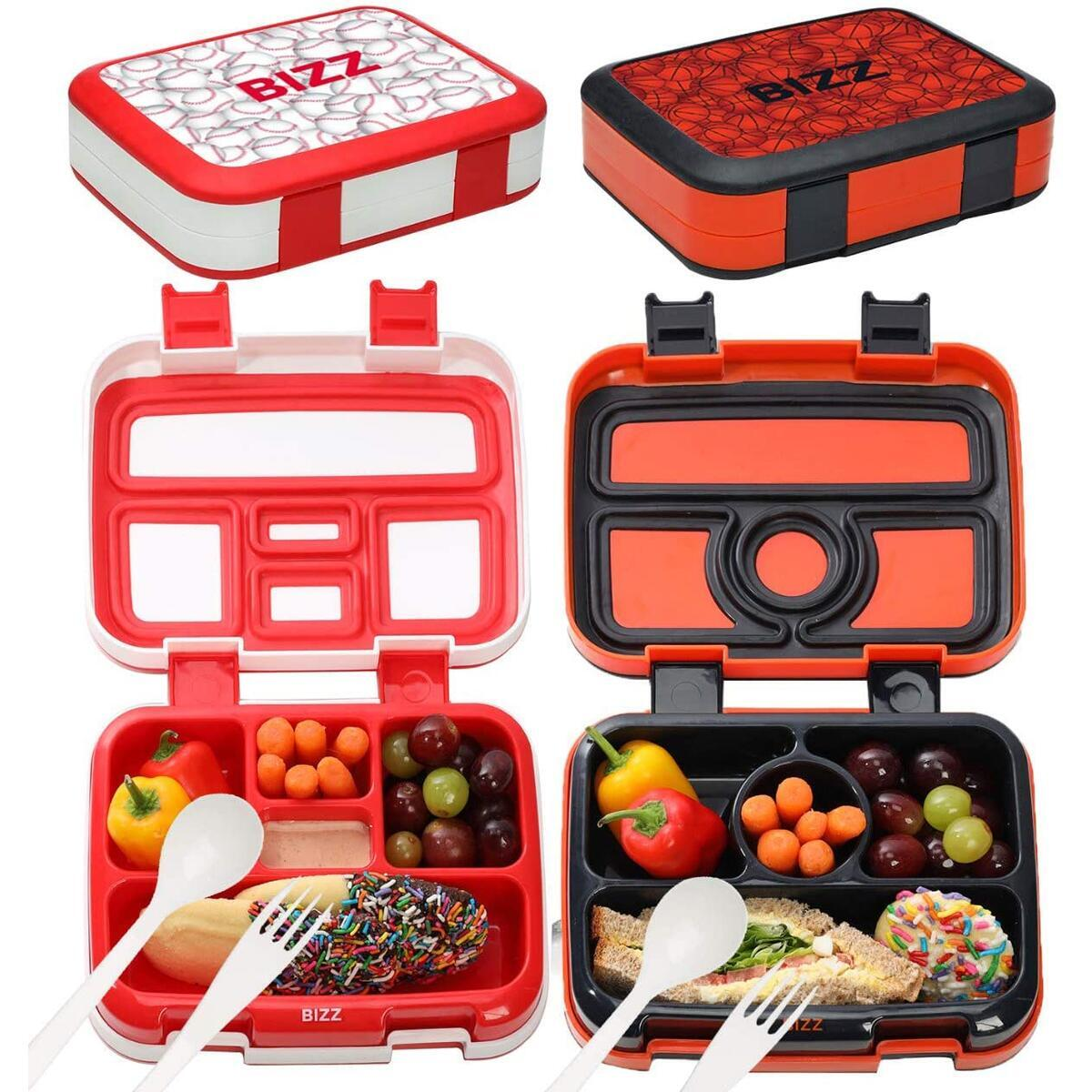 Bento Boxes - Baseball & Basketball - 2pk