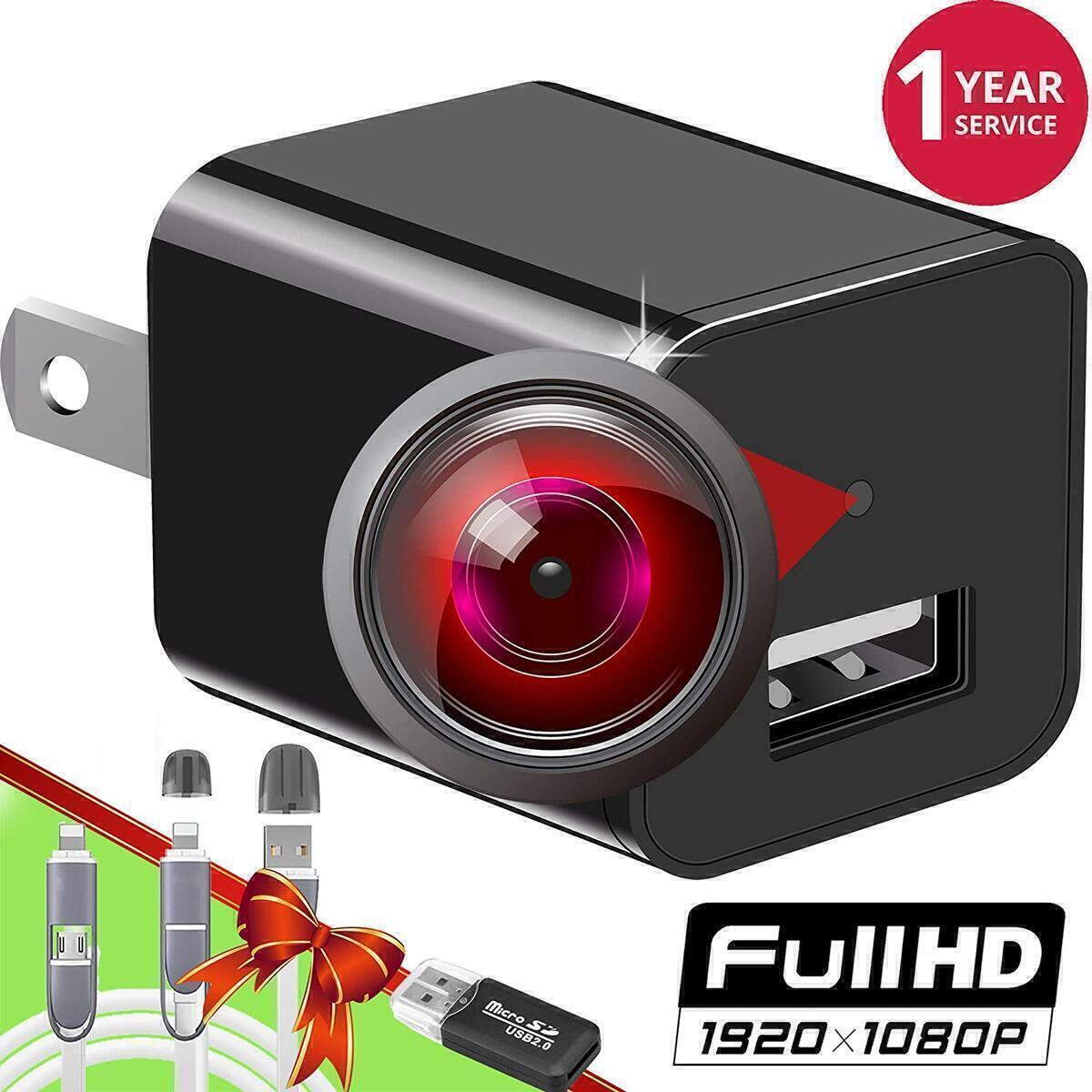 Spy Camera Charger - HD 1080P -  Premium Pack -  Wide Angle