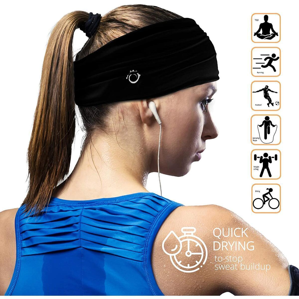 Multi-Functional Headbands for Men & Women - USE IT AS: Sweatband, Face Mask, Headband for Yoga, Workout, Crossfit, Running...