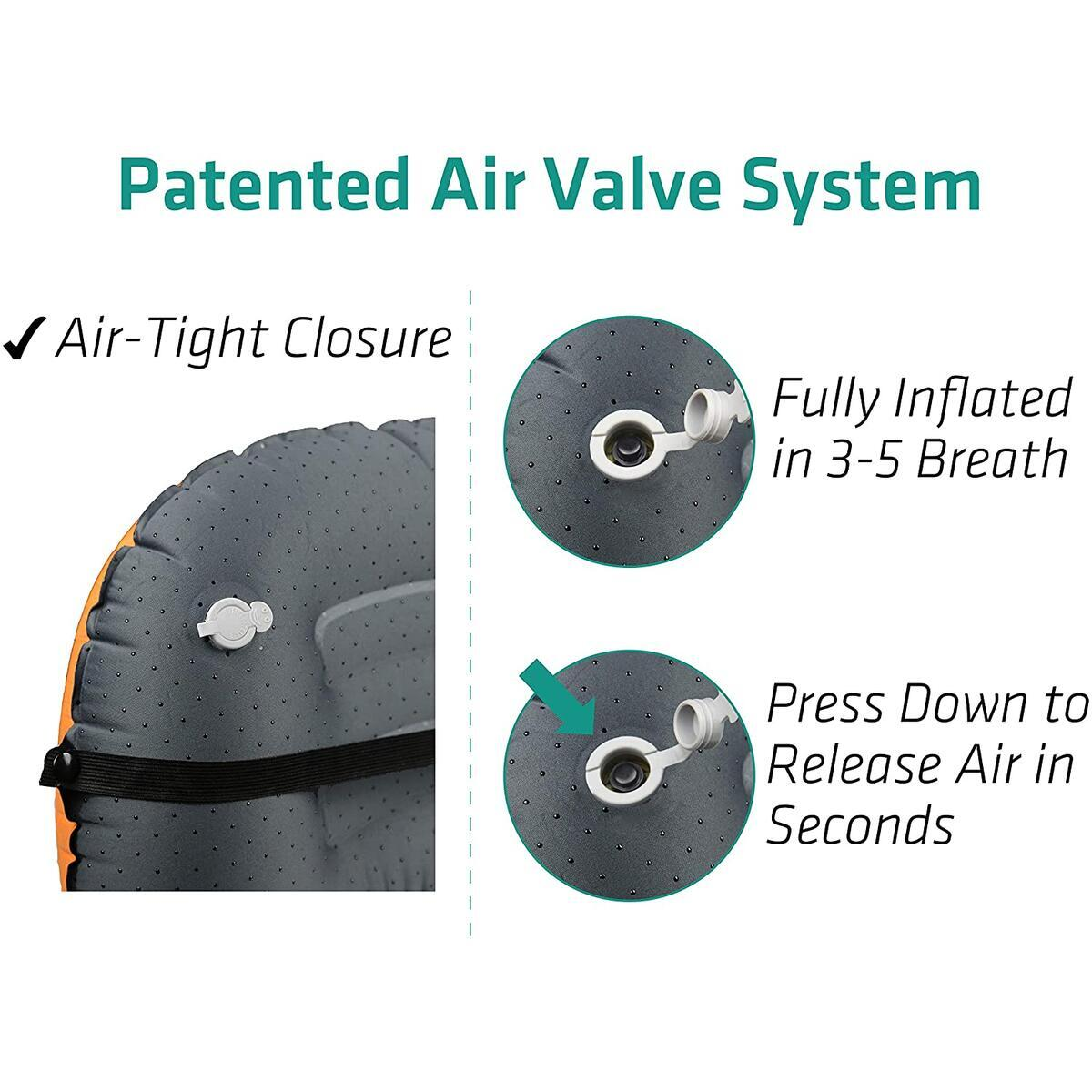 Inflatable Camping Travel Pillow (Any Color)
