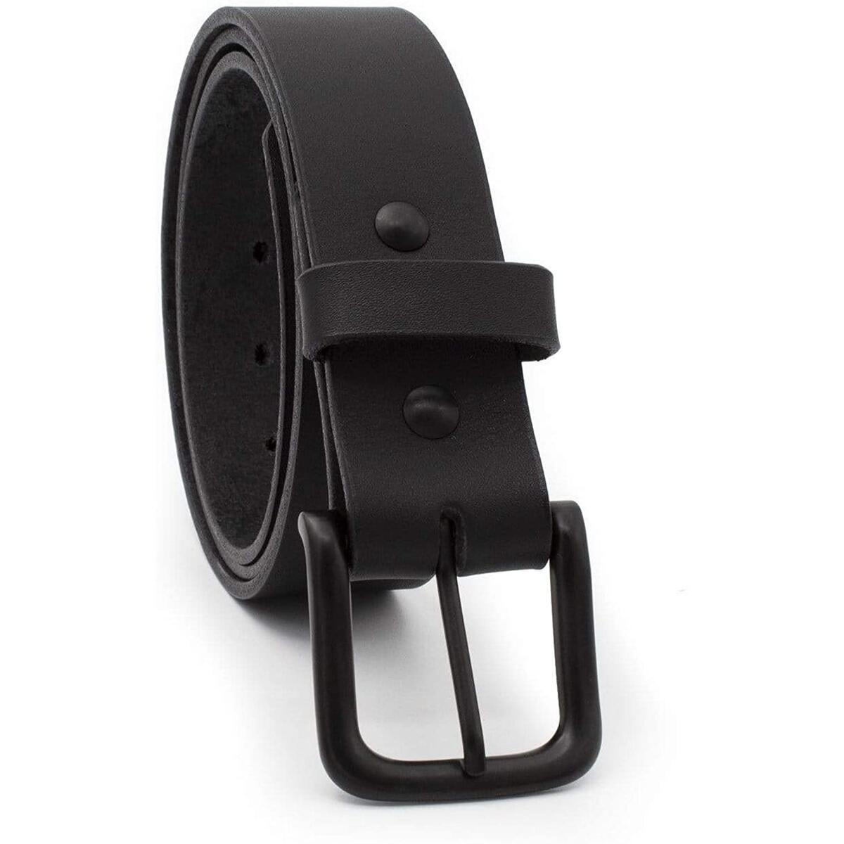 The Huntsman - Full Grain Leather Black Belt - Made in USA [ALL SIZES ELIGIBLE FOR REBATE]