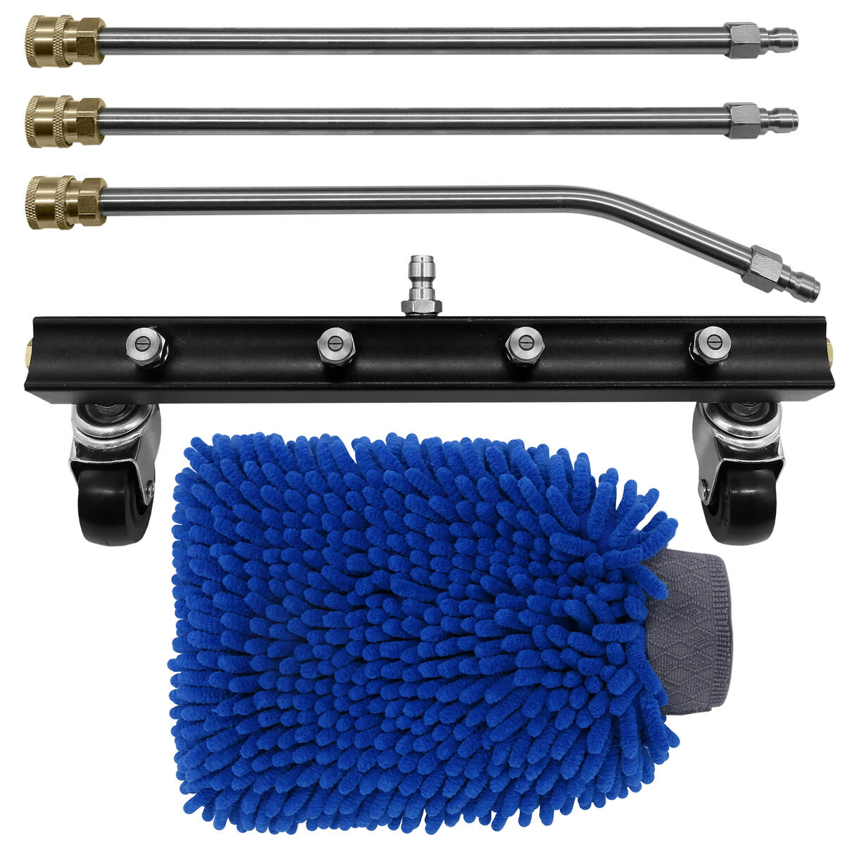 EZJOY Undercarriage Cleaner Kit – Undercarriage Cleaner with 3 Extension Wands – 4000 PSI Undercarriage Washer and Premium Microfiber Wash Mitt – User-Friendly Installation – Highly Durable