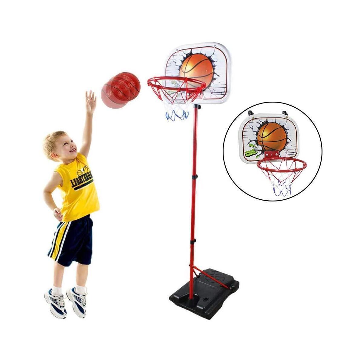 HANMUN Basketball Hoop for Kids Set Adjustable Portable Basketball Set 2-in-1 2020 TOP19044 Kids Basketball Stand Sport Game Play Set Net , Ball and air Pump Inclued 3+ Years Toddler Baby Sport