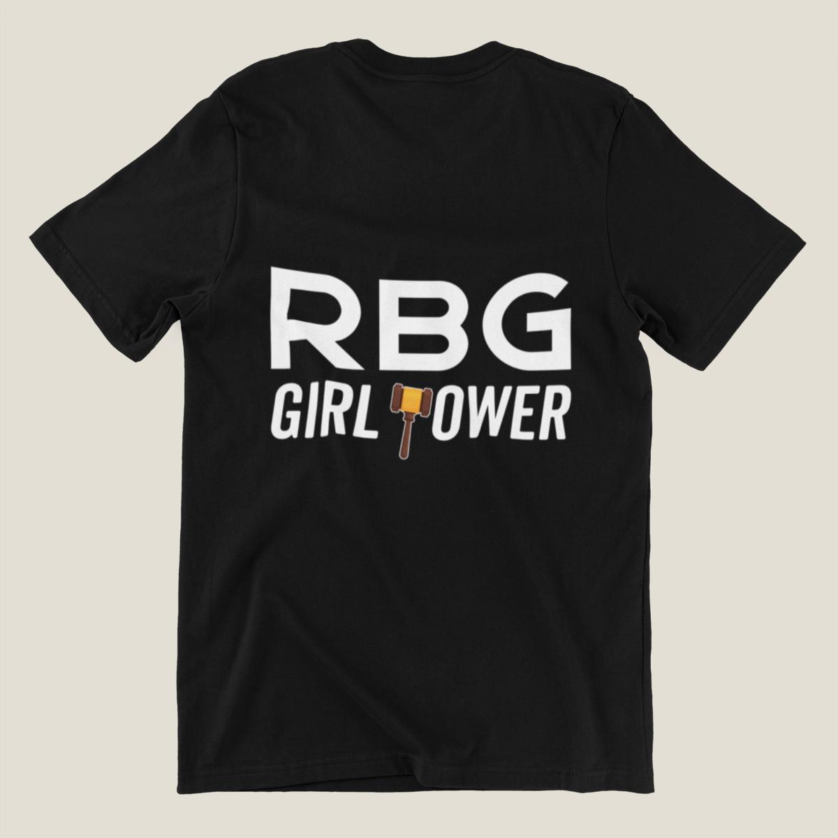 RBG Ruth Bader Ginsburg Girl Power Feminist Feminism Woman T-Shirt, Woman's Large, Black