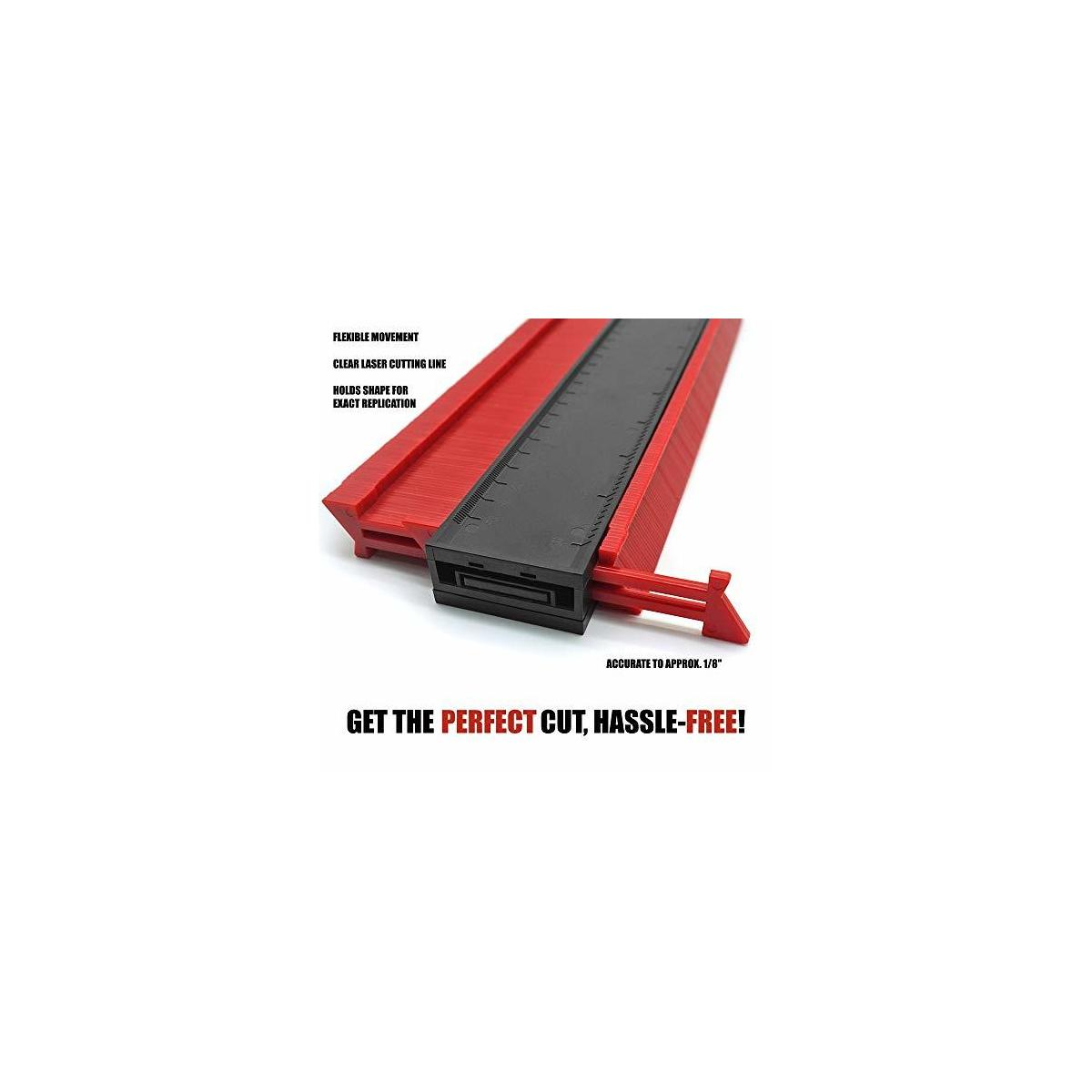 Contour Gauge Duplicator (10 Inch, 5 Inch) and Multi Angle Measuring Ruler 4 PC. Set by Innovate Infinity