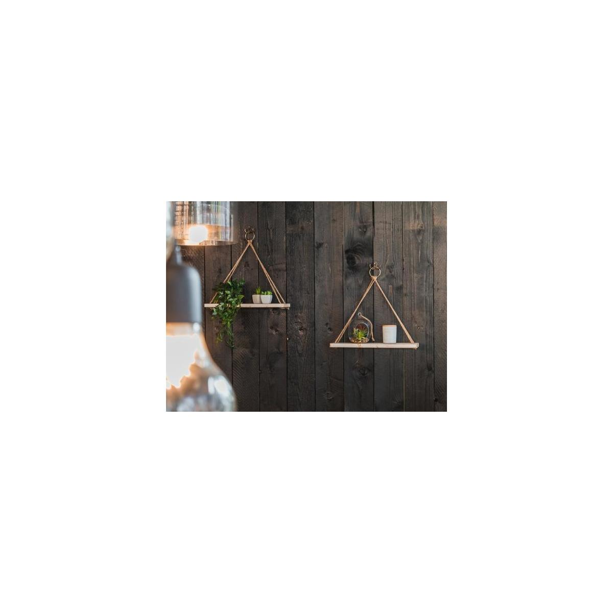 BAMB2 Floating Wall Shelves (Set of 2) – Farmhouse Plant Hangers for Home & Office – Rustic Home Décor – Mounting Accessories Included – Practical and Sturdy Design – Ideal for Pots, Books, Frames