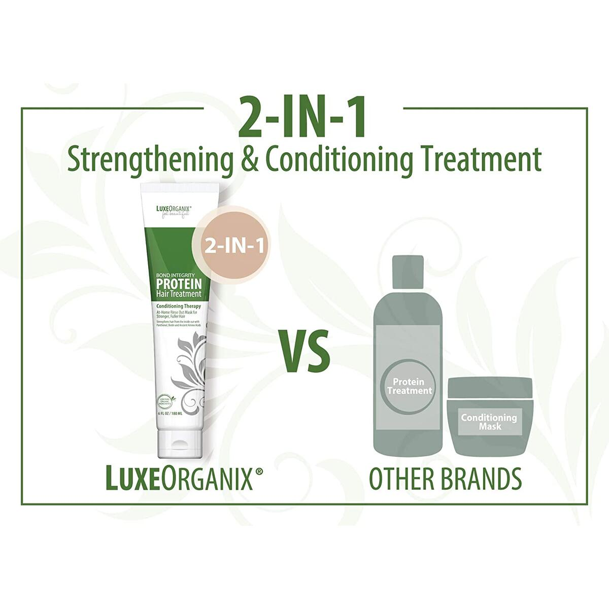 LuxeOrganix Protein Hair Treatment for Dry Damaged Hair
