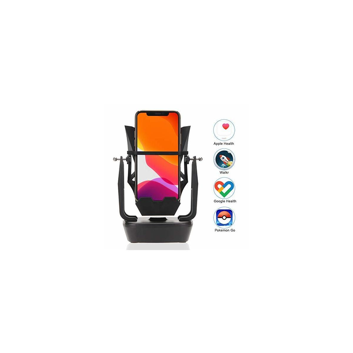 JESHA Cell Phone Holder and Stand for Desk - Earn Steps with The Cellphone Cradle Automatic Shaker for Mobile Smartphones, Poke Ball Plus, Pokemon Go
