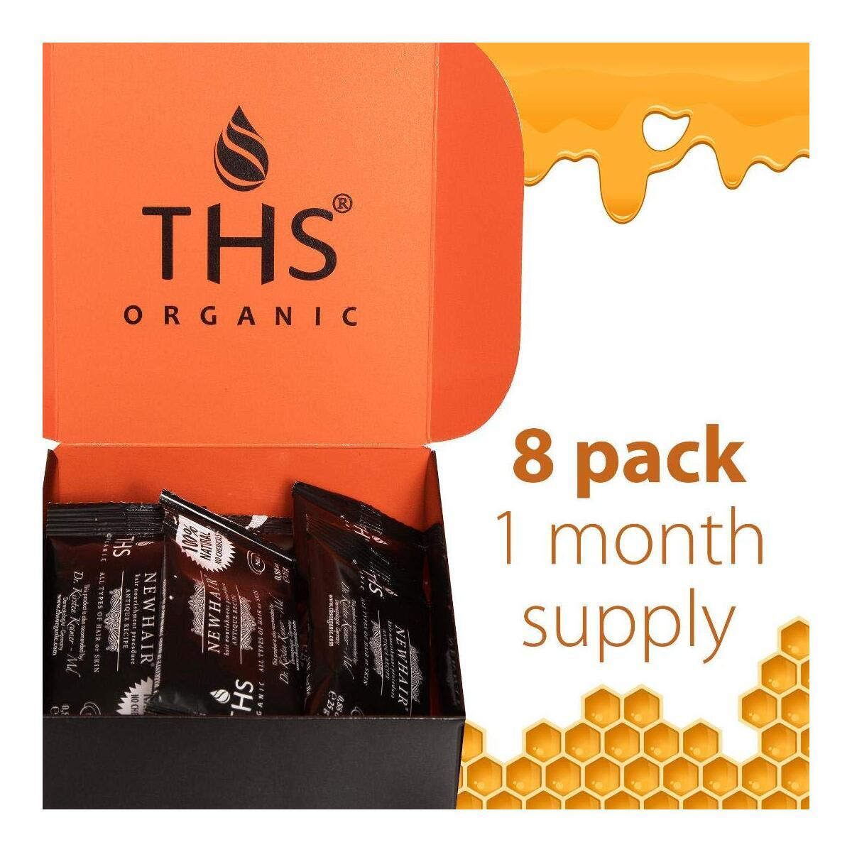 Organic Honey Hair Mask For Hair Loss - Scalp And Hair Treatment Mask – Conditioner And Hydrating Hair Mask - For Your Strong And Beautiful Hair (8 Pack)