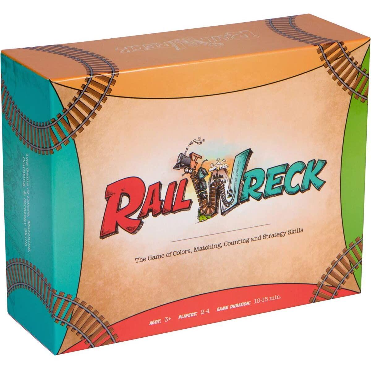 Inspiration Play Rail Wreck Kids Train-Themed Preschool Educational Board Game
