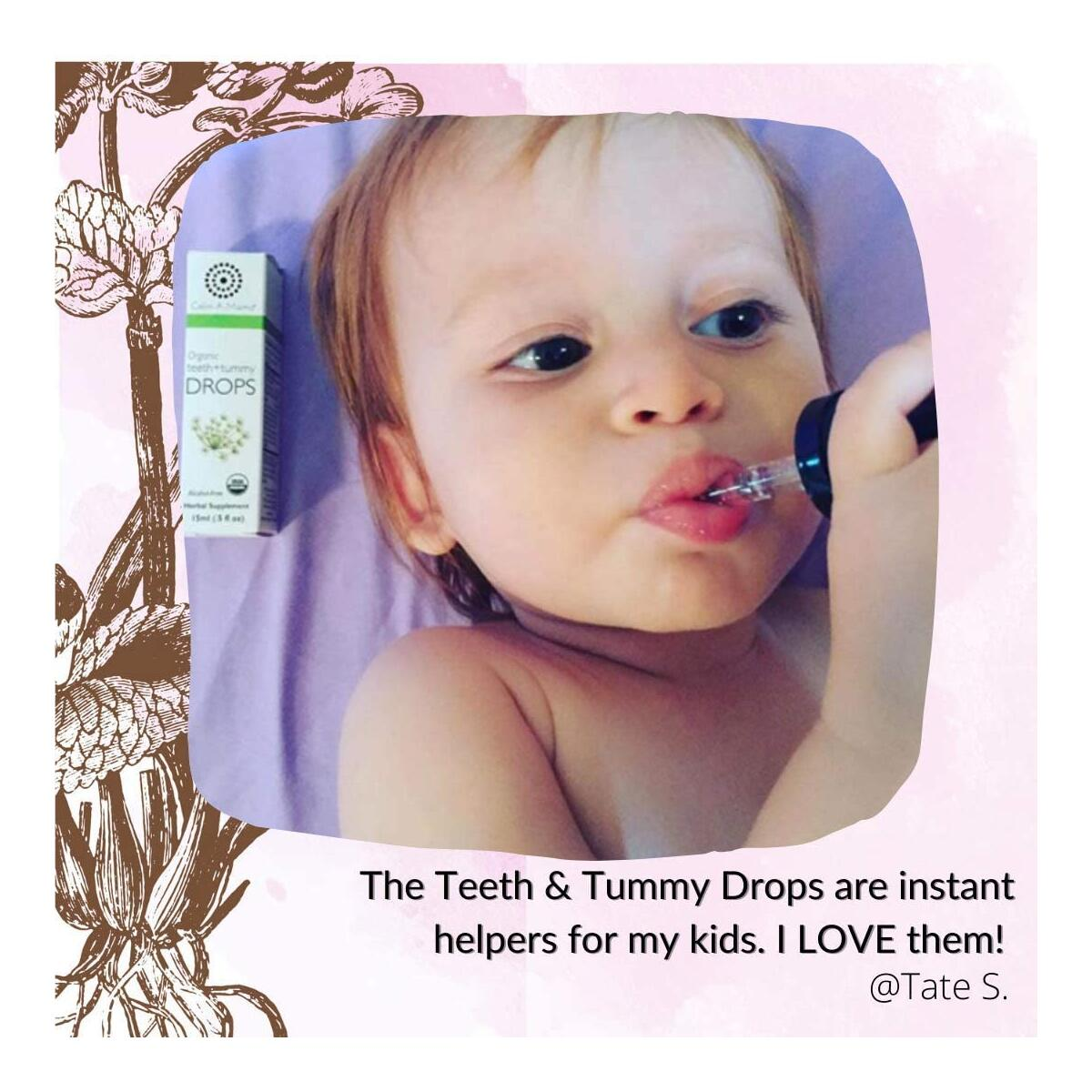 Organic Teeth and Tummy Pain Relief Drops for Babies (0.5oz -15ml) - Plant-based Drops for Toothache and Tummy Pains Colics - Made in the USA with Organic Fennel Extract - 75 Servings