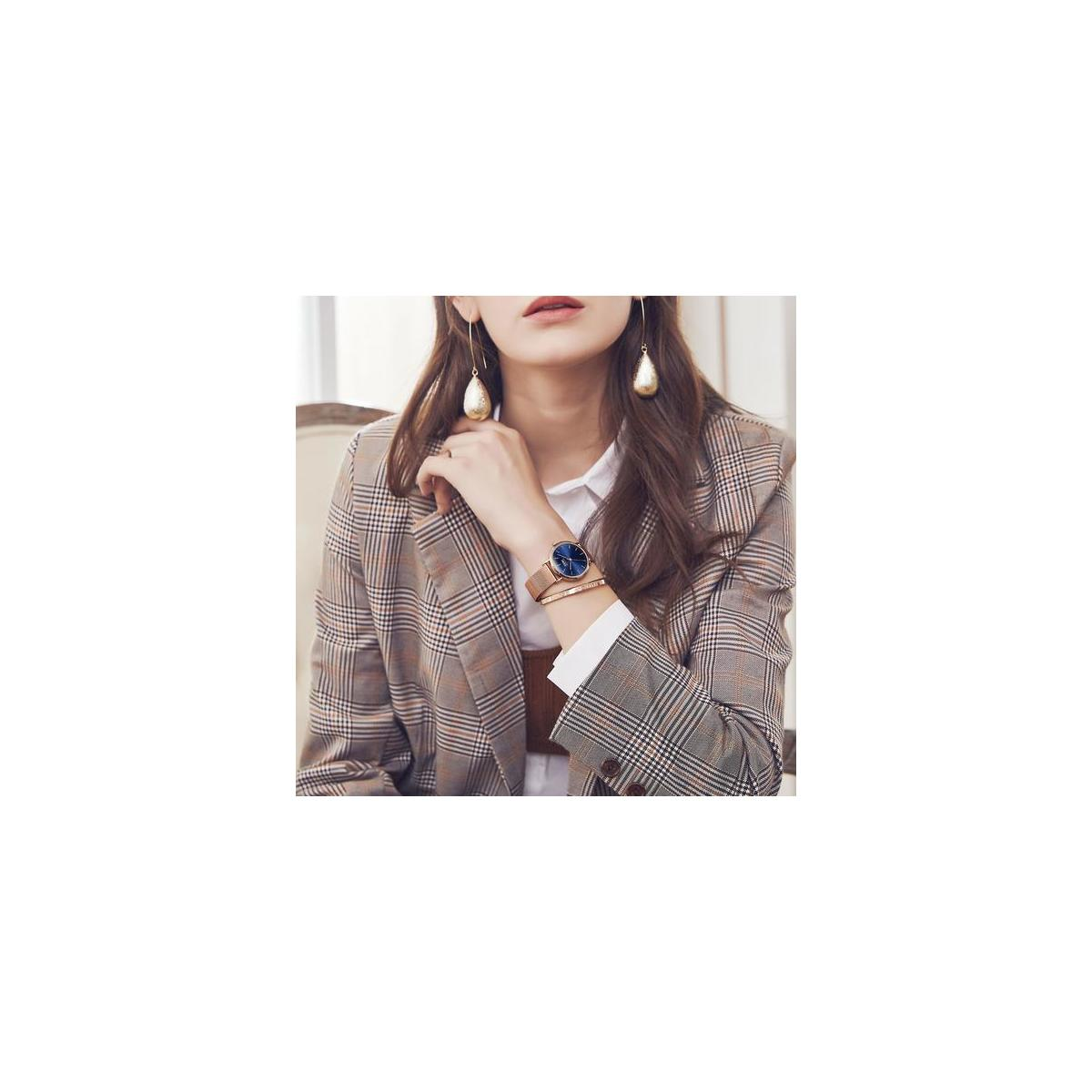 OPK Women's Bracelet Watch Blue Dial