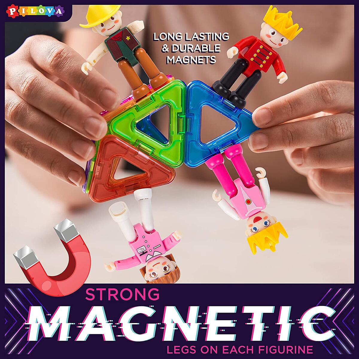 Magnetic Tiles Expansion Pack, STEM Magnetic Figures