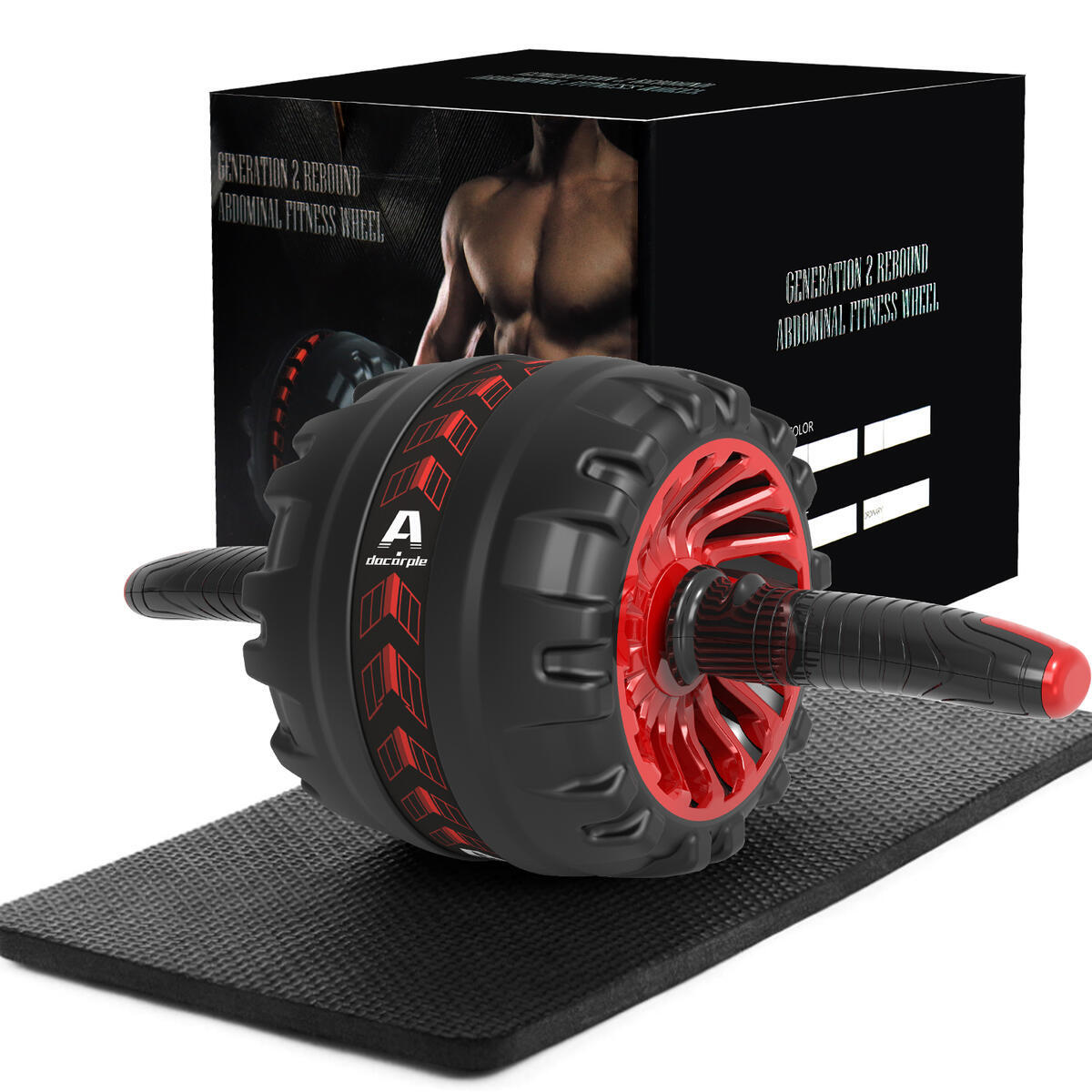 Ab Roller for Abs Workout, Ab Roller Wheel Exercise Equipment for Core Workout with Knee Mat, Perfect Home Gym Equipment for Men Women Abdominal Exercise