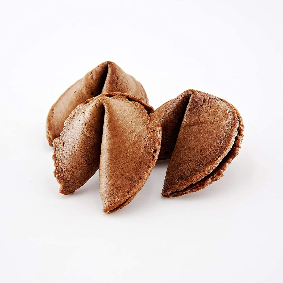 Sky | Premium and Fresh Chocolate Fortune Cookies Individually Wrapped, Bulk Pack, Perfect for Snacks, Lunch, Picnic, Birthdays, Graduation, Parties, Product of USA (Chocolate, 50 Cookies)