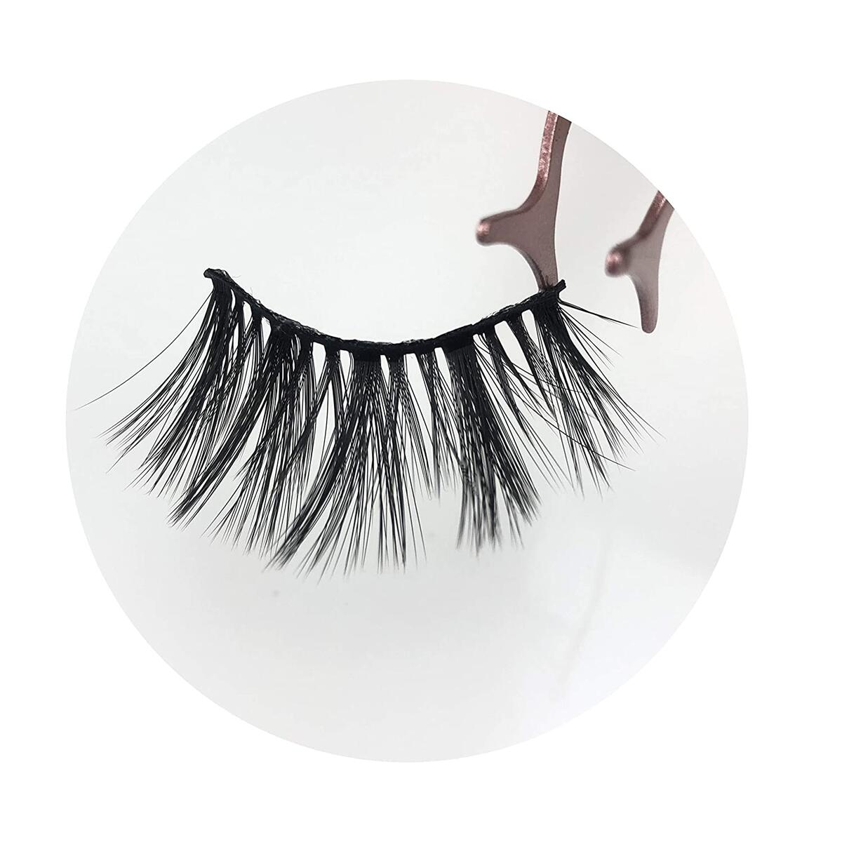 8 Pairs 20mm Natural Look Reusable Short Volume Fluffy Eyelashes Wispy Lashes
