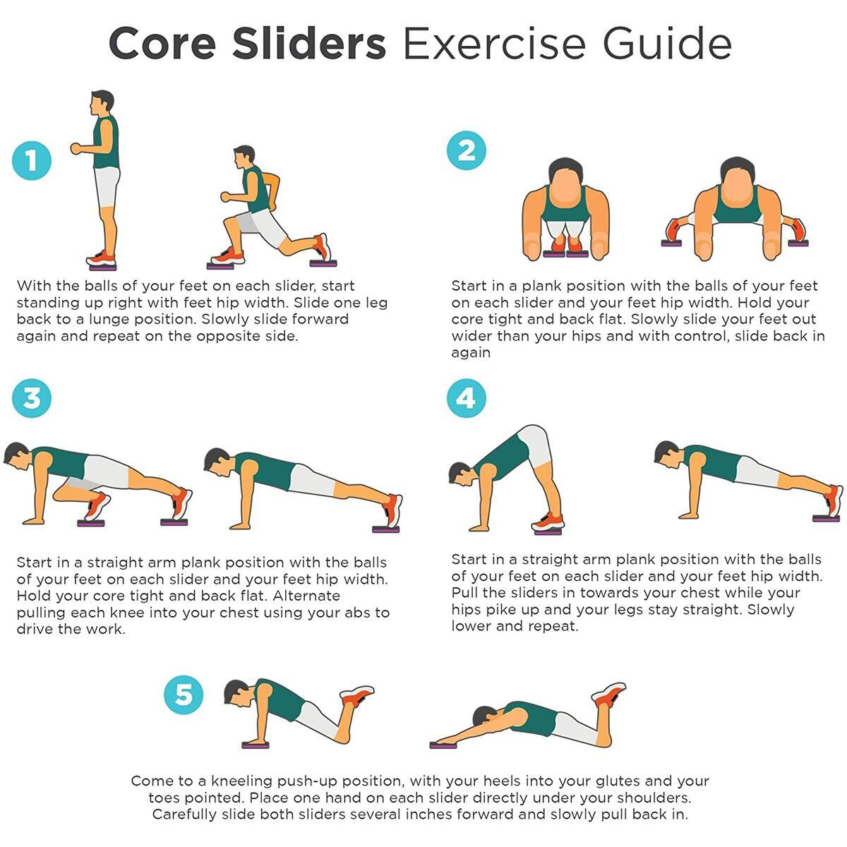 Core Sliders for Abdominal Strength Training - Use on Any Surface