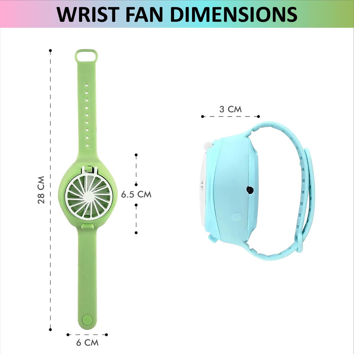 Buddy N Buddies Mini Handheld Portable Wrist Fan, Ultra-Quiet Third Gear Speed Electric Mini Watch Fan (Pink)
