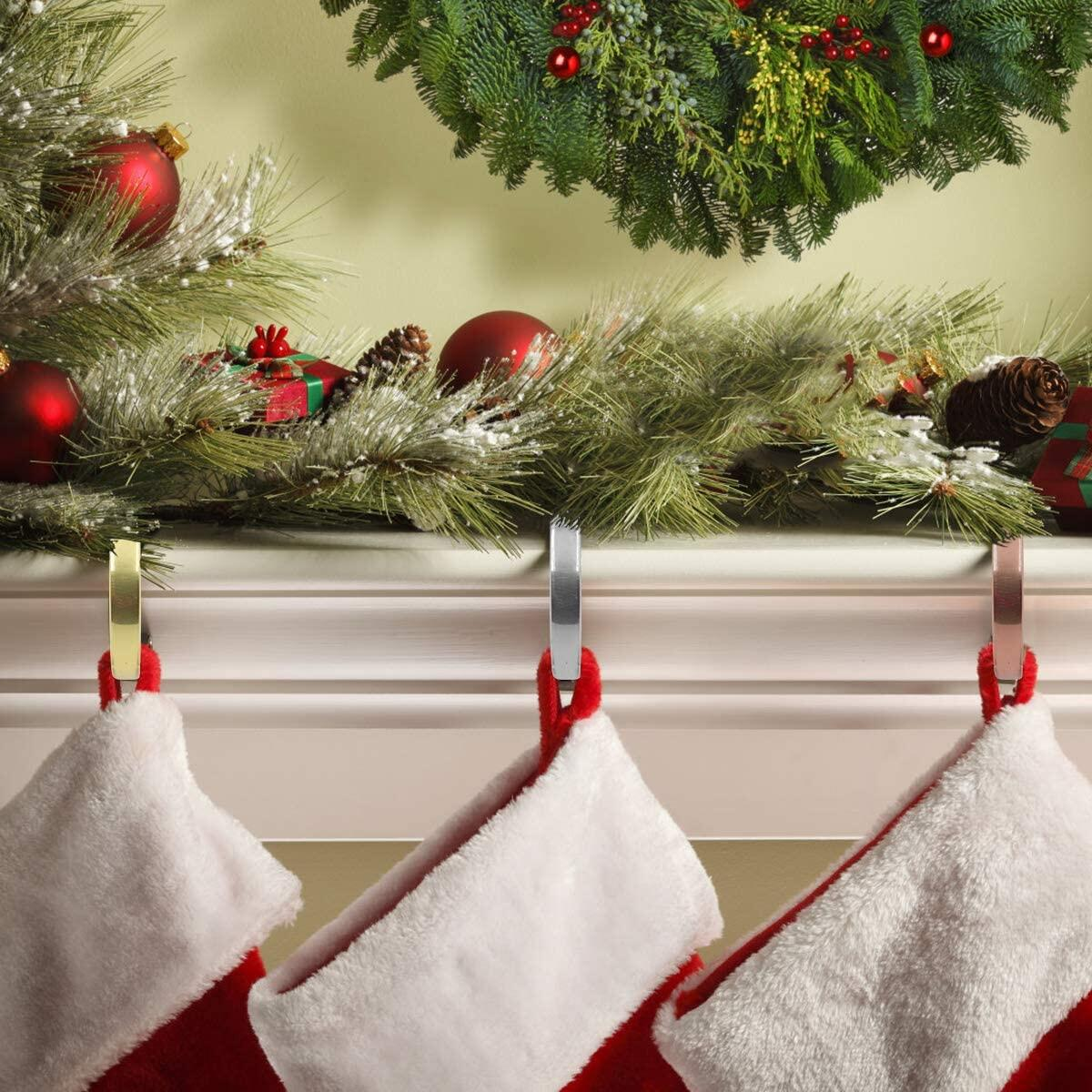 WEYON Christmas Hooks for Stockings,Stocking Holders,Home Kitchen Hanging Hooks,Multiple Uses,4Pcs ,Sold by CHUDAO