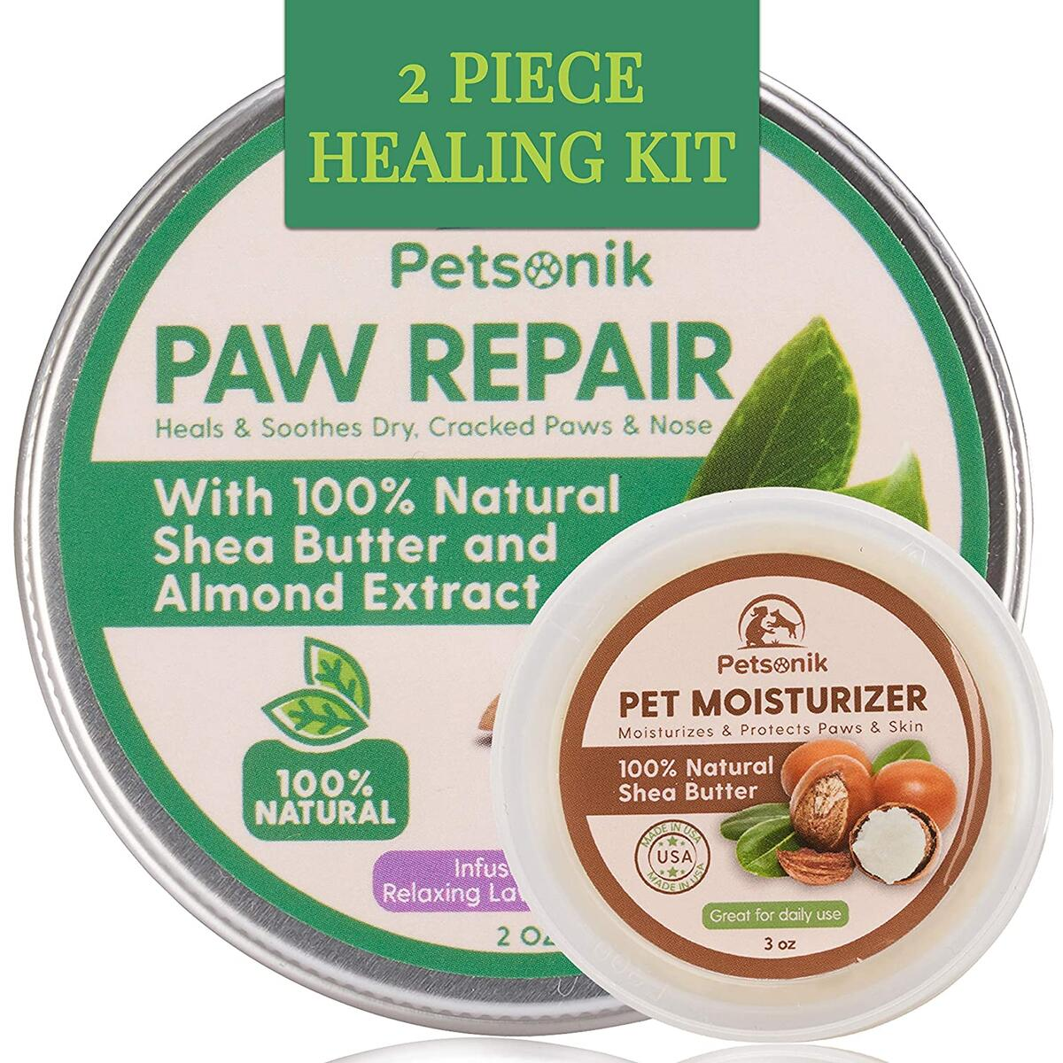 Dog Paw Balm Healing Kit (2 pc) | Paw Repair + Pet Moisturizer & Soother