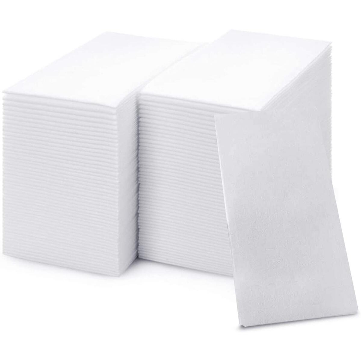 shawberri 200 Premium Disposable Linen-Feel Soft Guest Towels, Absorbent Napkins – Multi-fold Hand Tissue, Hygienic Solution For Kitchen, Bathroom, Party, Weddings and Events