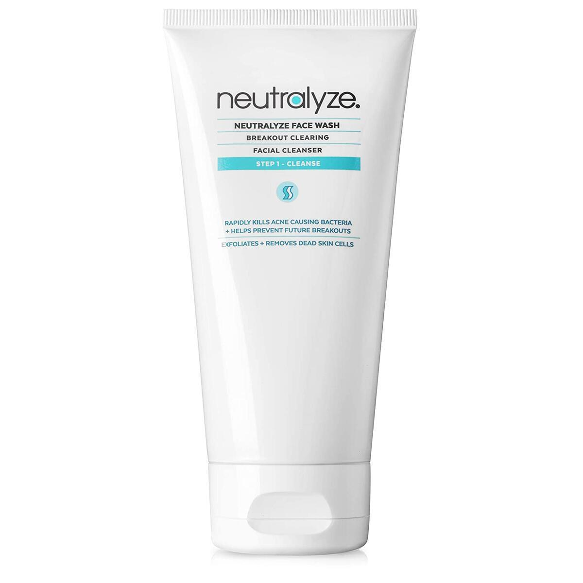 Neutralyze Acne Face Wash - Maximum Strength Face Wash For Acne Prone Skin With 2% Salicylic Acid + 1% Mandelic Acid (5.0 oz)