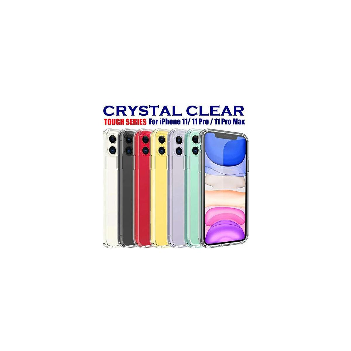 JERNI iPhone 11 Crystal Clear Case | Shock Absorption for Corners | Shockproof,Transparent | Anti-Scratch Bumper Cover Protective Case with Soft TPU Cushion Apple 11 6.1 Inch 2019 (iPhone 11)