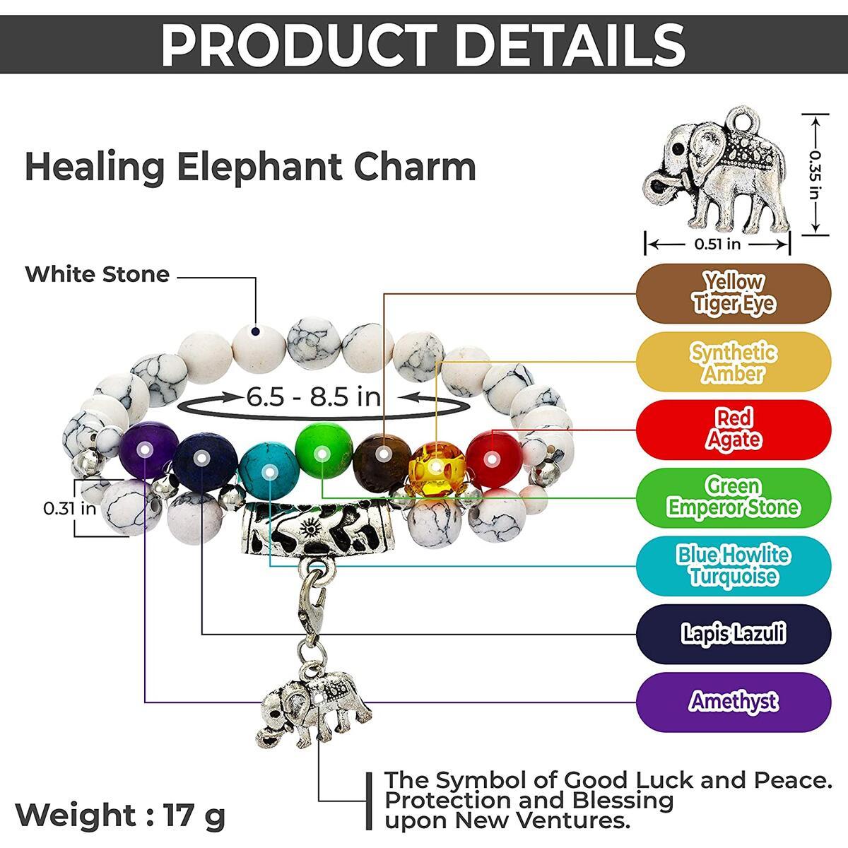 Imperial Deluxe 7 Chakra Bracelet for Women Men 8mm Lava Rock Stone Essential Oil Diffuser Healing Anxiety Distance Couple Friendship Charm Bracelet