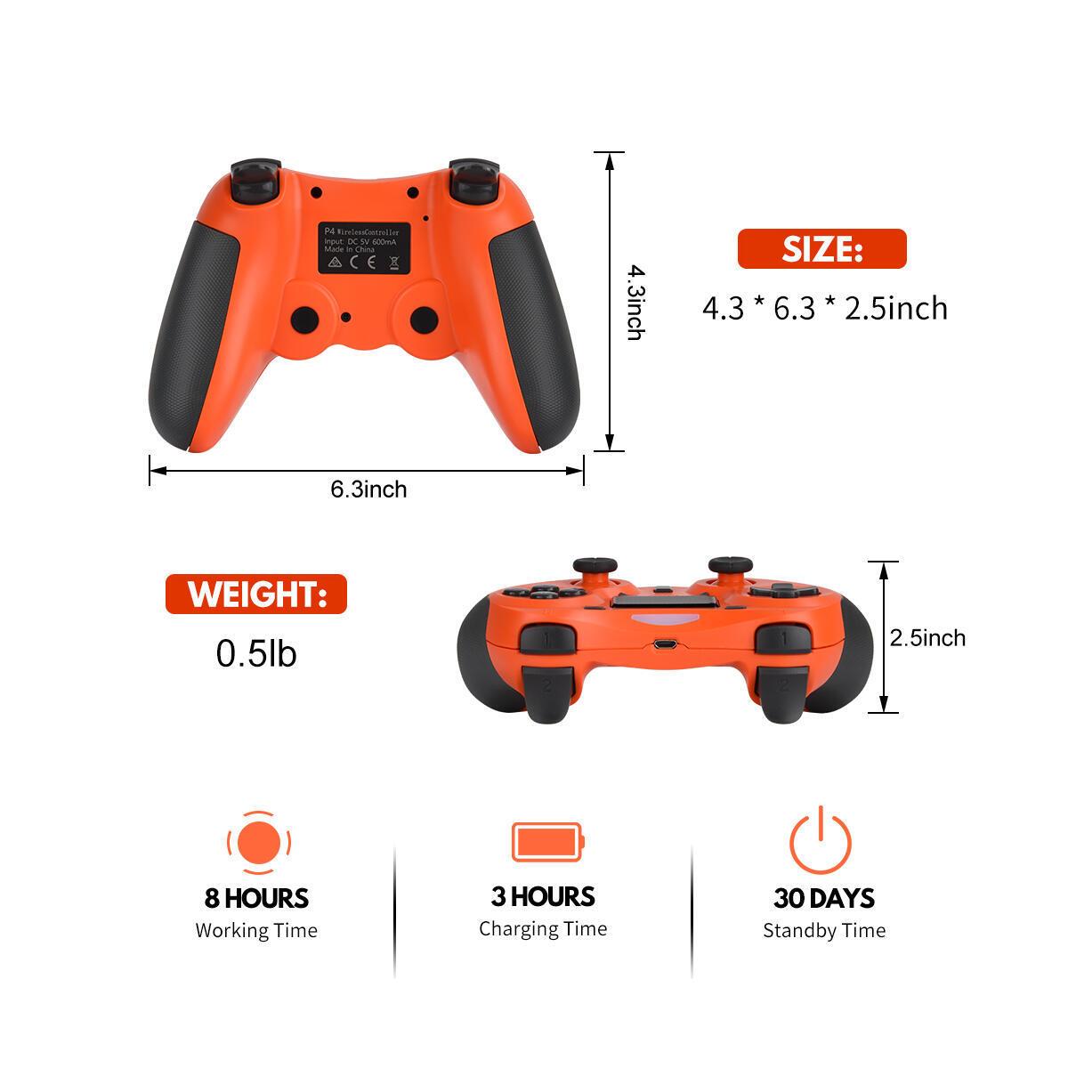 PS4 controllers(orange)