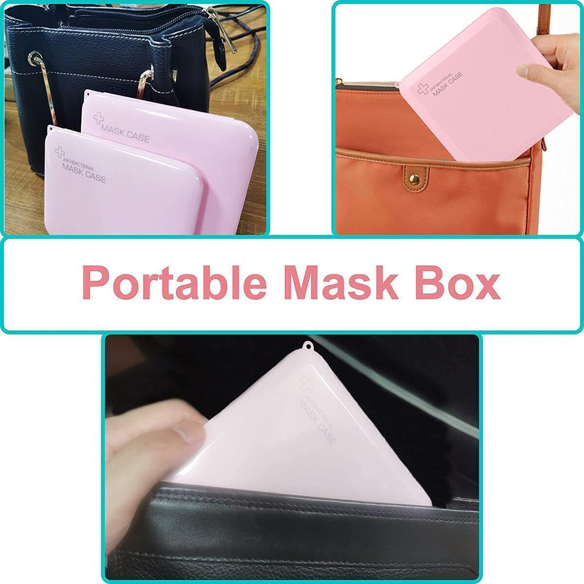 8 Pieces Mask Holder - Plastic Storage Box - Mask Carrying Case - Storage Boxes with Lids - Dustproof Waterproof Storage Box - 4 Colors