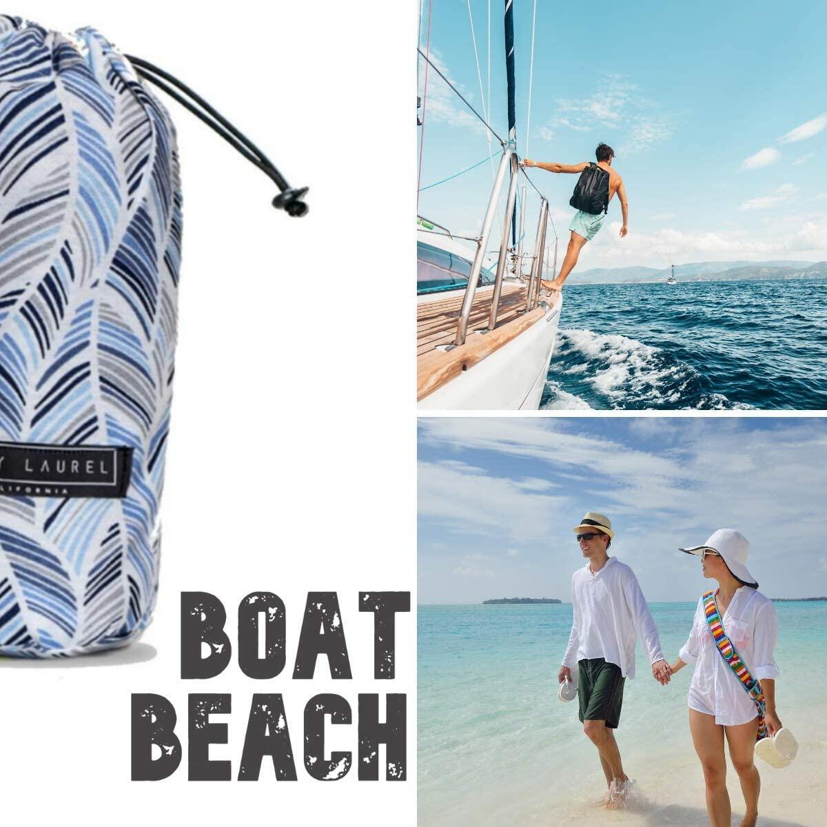 XL Thin Beach Towel with BONUS Beach Bag (39