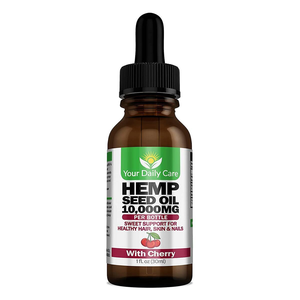 Premium Organic Hemp Oil + Organic Cherry Kernel Oil; Skin, Hair and Nails; Natural Calming Blend from Your Daily Care