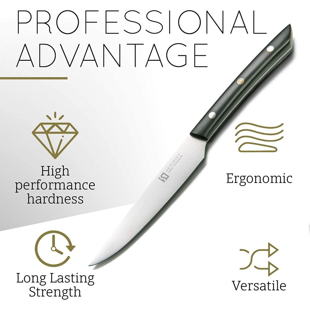 Supinity Steak Knives Set of 4
