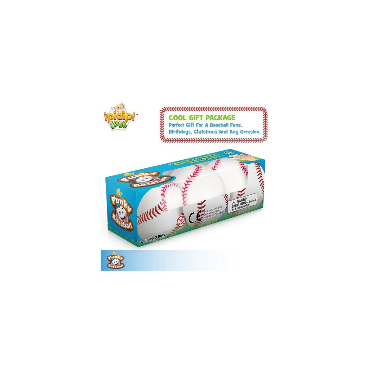 Baseballs Splat 'N' Stick balls - 3 Pack