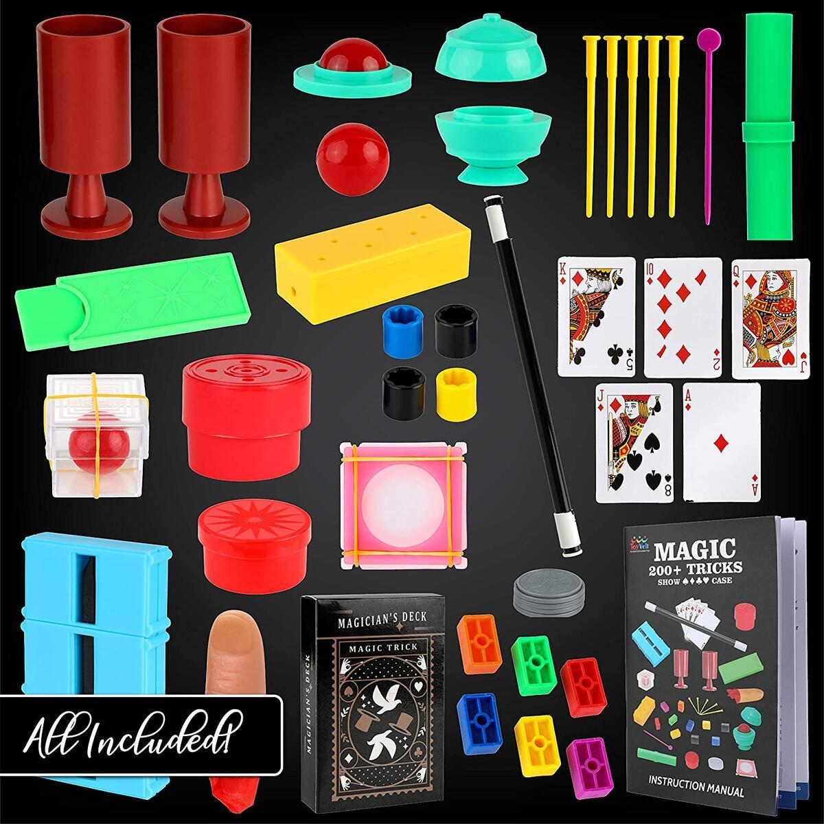 ToyVelt Magic Tricks Magic Set - Kids Magic Kit for Beginners with Over 200 Tricks and Instructions - Hours of Fun and Learning - for Boys and Girls Ages 5, 6,7 and Up