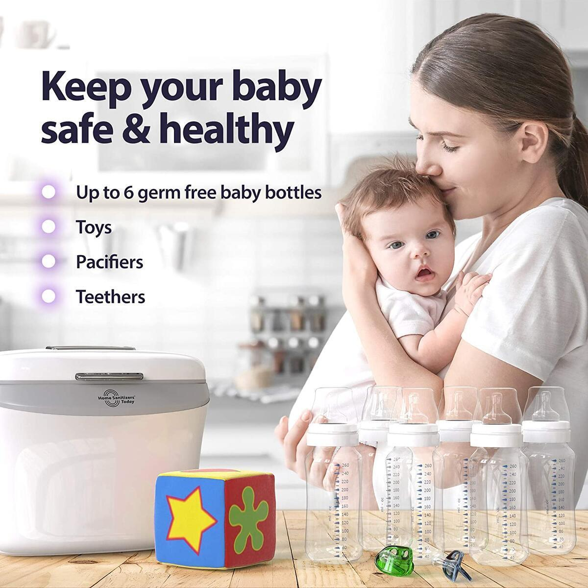 UV Light Sanitizer Box for Disinfection - Ultraviolet LED Universal Sterilizer and Dryer Device for Baby Bottles, Cell Phone, Toothbrush and Personal Items