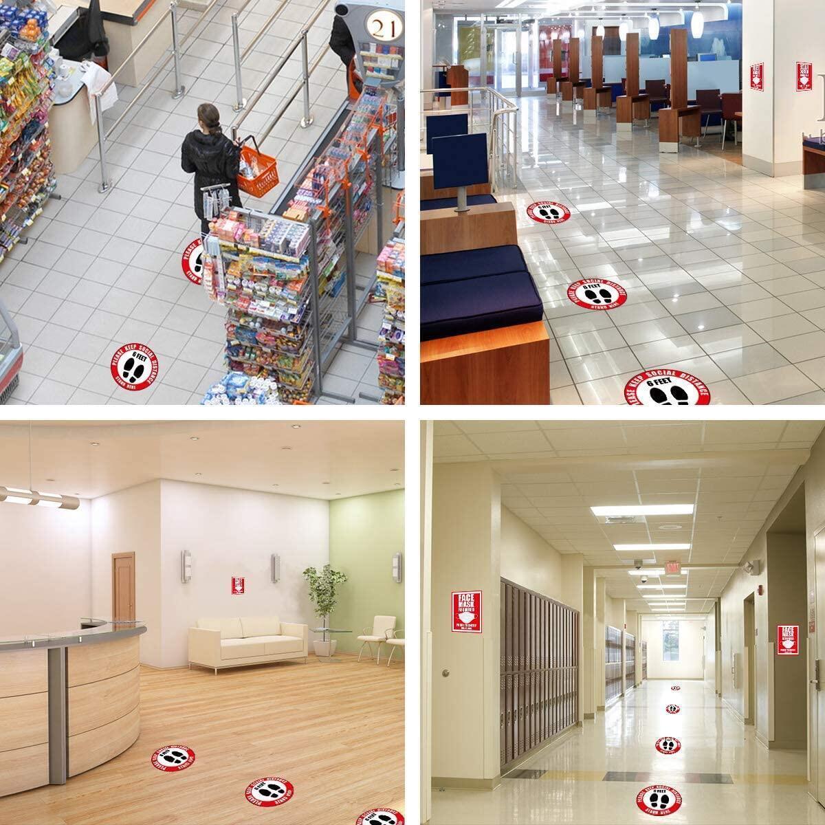 Social Distancing Floor Decals, 12