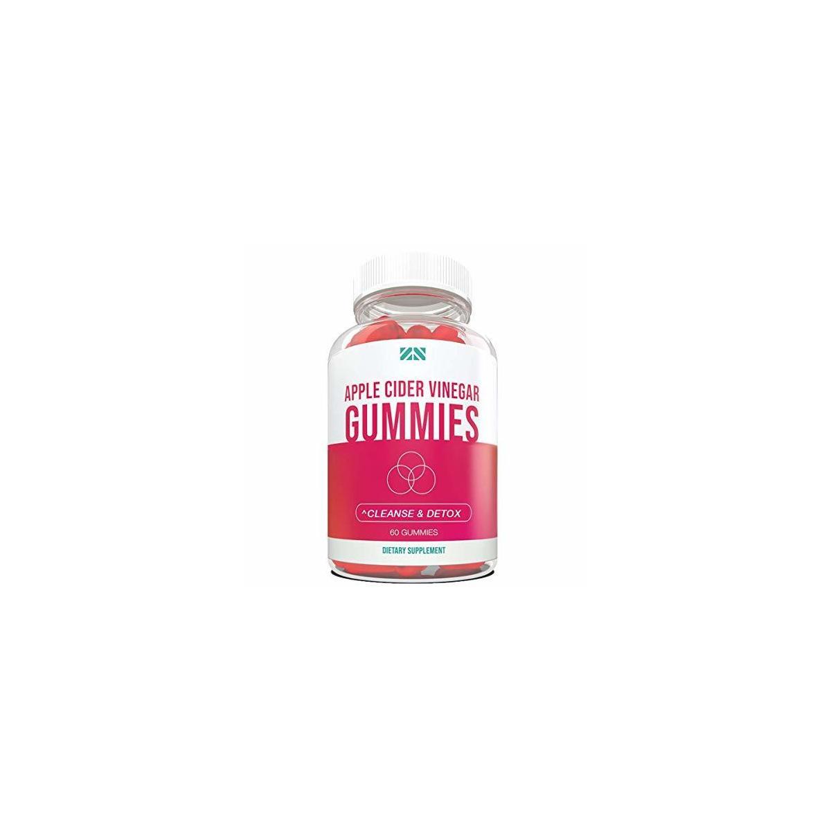 Apple Cider Vinegar Gummies - Detox, Cleanse, Weight Loss, Better Digestion, Healthy Heart Health, Balanced Blood Pressure - 60 Count