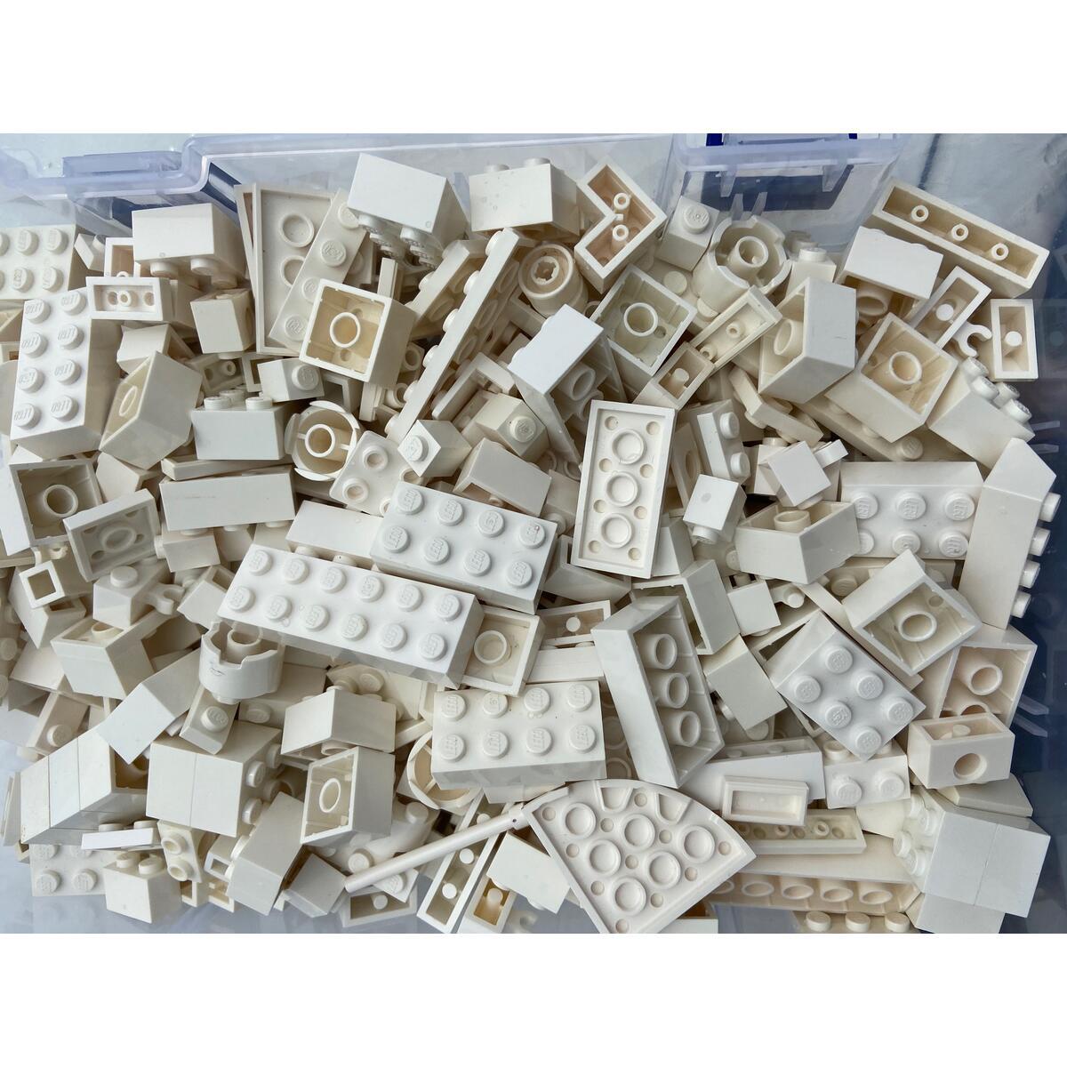 1/2 pound White LEGO Bricks, parts