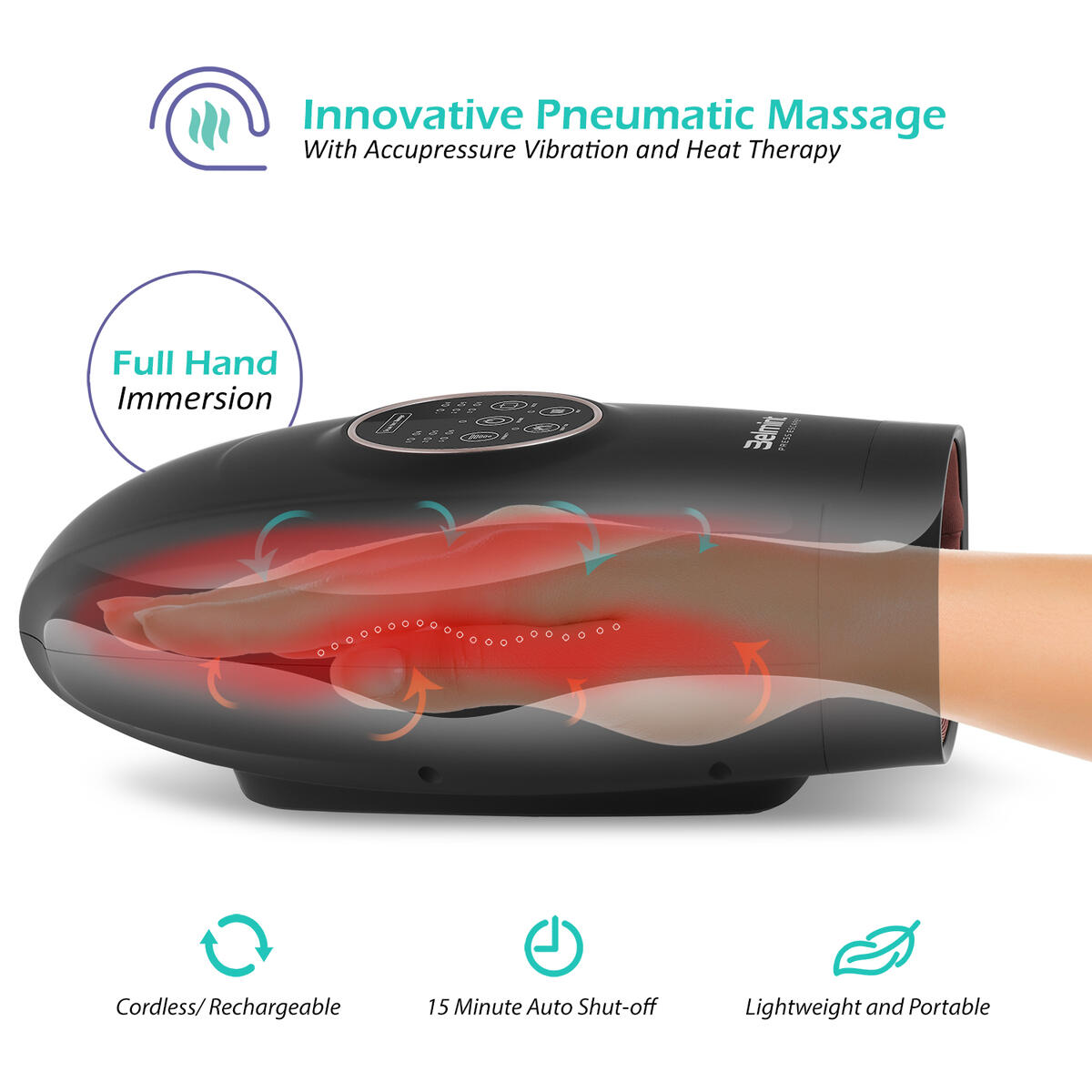Belmint Cordless Electric Hand Massager with Air Compression