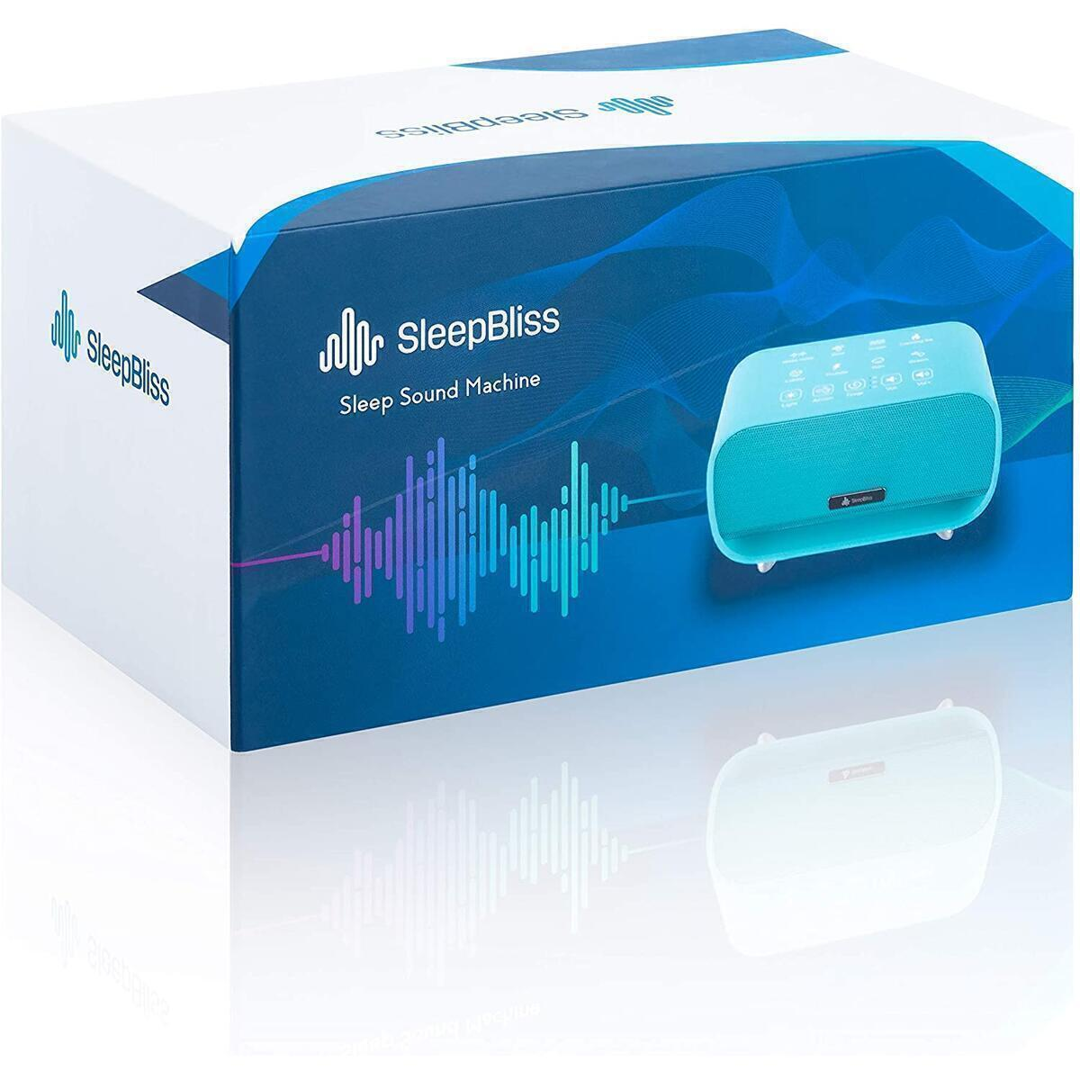 SleepBliss Portable White Noise Machine | 24 Unique HiFi Sounds | Touch Button Feature | 2 Night Lights|Rechargeable Travel Sound Machine for Baby|Negative Ion Purifier|Auto-Off Timer Tinnitus Relief